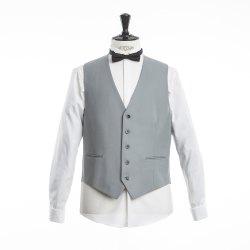 WILVORST Classics Cutweste Grau Classic Line normaler Schnitt 100% Schurwolle IWS 450g Weste