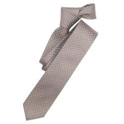 Venti Krawatte Taupe Beige Gemustert 100% Seide 6cm Breit...