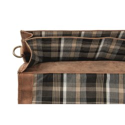HAROLD´s Antic Heritage Aktenmappe groß Tasche mit Klappverschluss mit Steckverschluss, Henkelgriff und Schultergurt Rindsleder