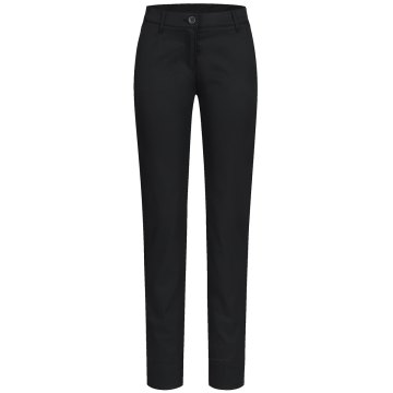 Greiff Corporate Wear Casual Damen Chinohose Regular Fit Schwarz Modell 1328