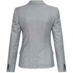Greiff Corporate Wear Modern with 37.5 Damen Blazer Regular Fit Hellgrau Modell 1424