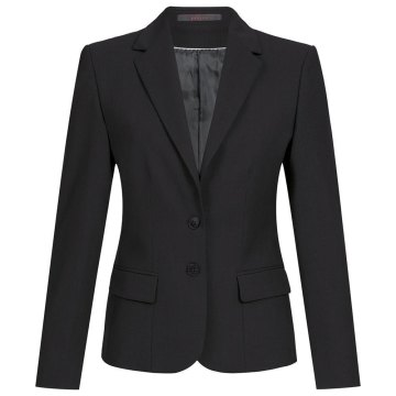 Greiff Corporate Wear Premium Damen Blazer Comfort Fit Schwarz Modell 1441 441ba31470
