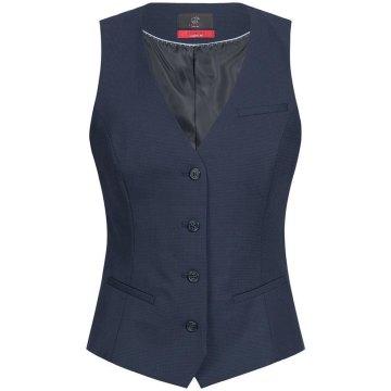 Greiff Corporate Wear Premium Damen Weste Regular Fit Blau Mikrodessin Modell 1703