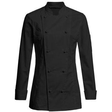 Greiff gastro moda Damen Cuisine Premium Kochjacke Regular Fit Schwarz Modell 5407