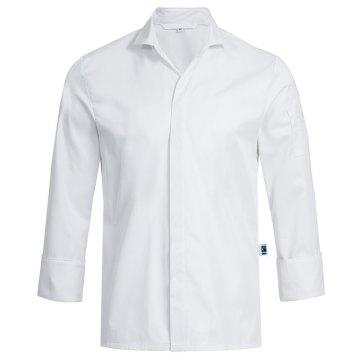Greiff gastro moda Herren Cuisine Exquisit Chefkochhemd Slim Fit Weiß Modell 5565
