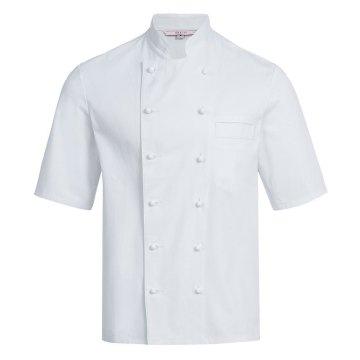 Greiff gastro moda Herren Cuisine Basic Kochjacke Halbarm Regular Fit Weiß Modell 5567