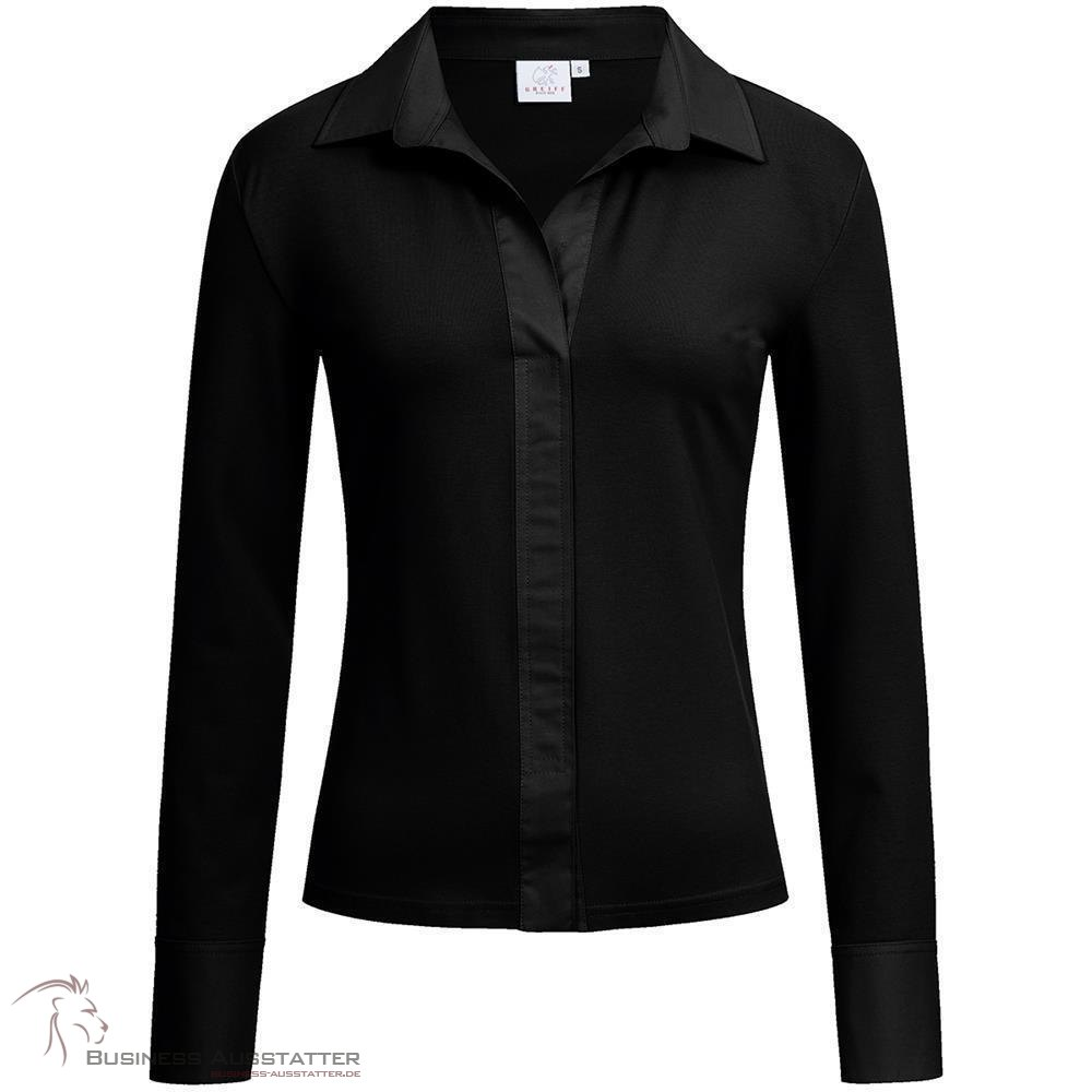 fa8414d7d3e790 Greiff, Corporate Wear, Damen, Shirtbluse, Regular Fit, Langarm, Schw