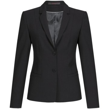 Größe 80 Greiff Corporate Wear Premium Damen Blazer Regular Fit Schwarz Modell 1446