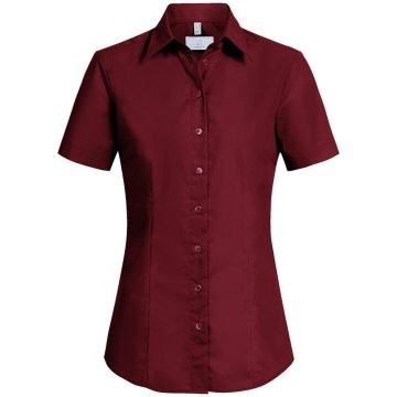 Größe 42 Greiff Corporate Wear Basic Damen Bluse Halbarm Regular Fit Bordeaux Modell 6516