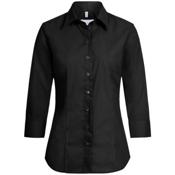 Größe 52 Greiff Corporate Wear Basic Damen Bluse 3/4-Arm Regular Fit Schwarz Modell 6517