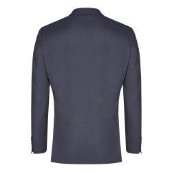 atelier torino Business Sakko Giorgio mit Seitenschlitzen Dunkelblau Uni Normale Schnittform Classic Fit 100% Schurwolle 270g