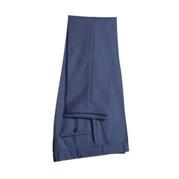WILVORST Smoking Hose Mitternachtsblau Drop8 Extra Schmal Tailliert Geschnitten 84% Wolle 16% Mohairwolle 230g
