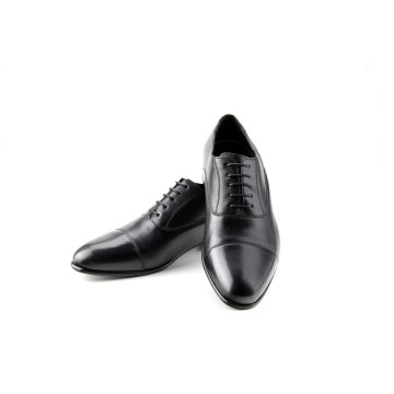 Prime Shoes Flexible Cliff Schnürschuh Schwarz Calf Black aus feinstem Kalbsleder Sacchetto