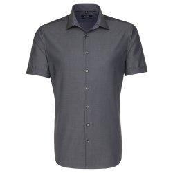Seidensticker Schwarze Rose Hemd Tailored Fit Grau...