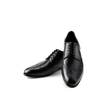 Größe 12 Prime Shoes Flexible Lake City Schnürschuh Schwarz Calf Black mit Budapestermuster aus feinstem Kalbsleder Sacchetto