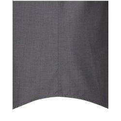 Größe 47 Seidensticker Schwarze Rose Hemd Modern Fit Grau Halbarm Fil a Fil leicht tailliert geschnitten Kentkragen 100% Baumwolle Bügelfrei