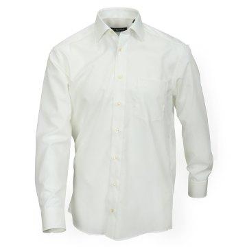 Casamoda Hemd Creme Uni Langarm Comfort Fit Normal Geschnitten Kentkragen 100% Baumwolle Bügelfrei