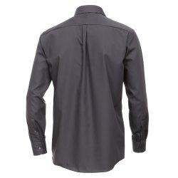 Casamoda Hemd Anthrazit Uni Langarm Comfort Fit Normal Geschnitten Kentkragen 100% Baumwolle Bügelfrei