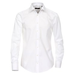 Venti Hemd Weiss Uni 69er Extralanger Arm Slim Fit...