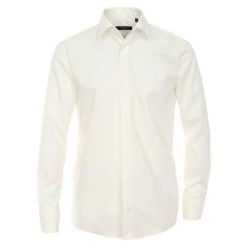 Größe 44 Casamoda Festhemd Creme Uni Langarm Normaler Schnitt Umschlagmanschette Kentkragen 100% Baumwolle Bügelfrei