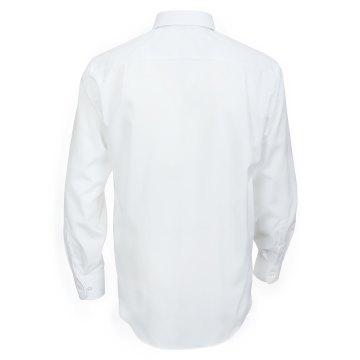Größe 40 Casamoda Hemd Weiss Uni Langarm Comfort Fit Normal Geschnitten Kentkragen 100% Baumwolle Bügelfrei