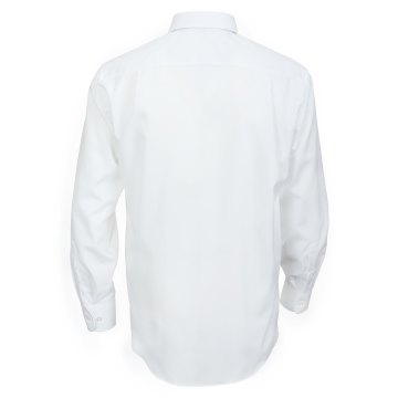 Größe 47 Casamoda Hemd Weiss Uni Langarm Comfort Fit Normal Geschnitten Kentkragen 100% Baumwolle Bügelfrei