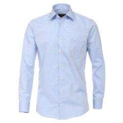 Casamoda Hemd Blau Uni Langarm Modern Fit Leicht...