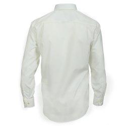 Größe 45 Casamoda Hemd Creme Uni Langarm Comfort Fit Normal Geschnitten Kentkragen 100% Baumwolle Bügelfrei