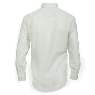 Größe 46 Casamoda Hemd Creme Uni Langarm Comfort Fit Normal Geschnitten Kentkragen 100% Baumwolle Bügelfrei