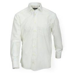 Größe 49 Casamoda Hemd Creme Uni Langarm Comfort Fit Normal Geschnitten Kentkragen 100% Baumwolle Bügelfrei