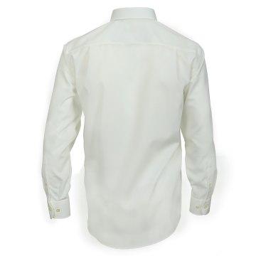 Größe 53 Casamoda Hemd Creme Uni Langarm Comfort Fit Normal Geschnitten Kentkragen 100% Baumwolle Bügelfrei