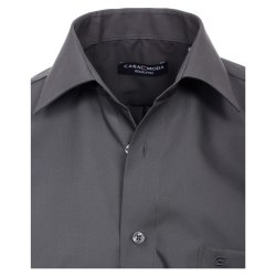Größe 40 Casamoda Hemd Anthrazit Uni Langarm Comfort Fit Normal Geschnitten Kentkragen 100% Baumwolle Bügelfrei