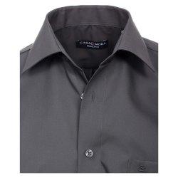 Größe 50 Casamoda Hemd Anthrazit Uni Langarm Comfort Fit Normal Geschnitten Kentkragen 100% Baumwolle Bügelfrei