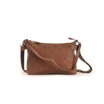 HAROLD´s Vintage Fashion R. Johnson Beutel small Tasche mit Reißverschluss und Schultergurt Rindsleder