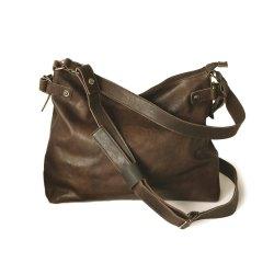 HAROLD´s Vintage Fashion R. Johnson Beutel Tasche mit Reißverschluss und Schultergurt Rindsleder