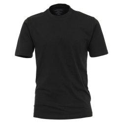Casamoda T-Shirt Dunkeloliv Kurzarm Normal Geschnitten...