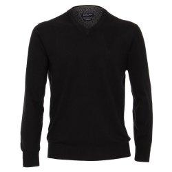 Casamoda Sport Pullover Schwarz Langarm Normal...