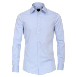 Venti Hemd Hellblau Uni Langarm Slim Fit Tailliert...