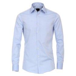 Größe 38 Venti Hemd Hellblau Uni Langarm Slim...