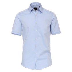 Größe 42 Venti Hemd Hellblau Uni Kurzarm Slim...