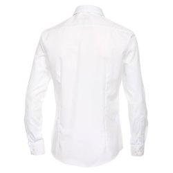 Größe 44 Venti Hemd Weiss Uni Langarm Slim Fit Tailliert Kentkragen 100% Baumwolle Popeline Bügelfrei