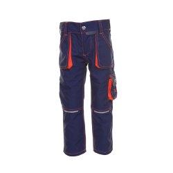 Planam Junior Kinder Bundhose marine orange Modell 6111