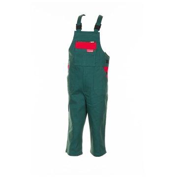 wie man serch attraktive Farbe gesamte Sammlung Planam Junior Kinder Latzhose BW mittelgrün rot Modell 0166