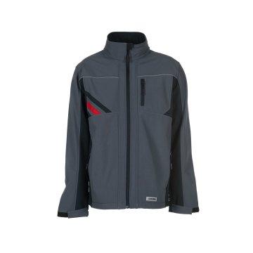 Planam Highline Herren Winter Softshelljacke schiefer schwarz rot Modell 2382
