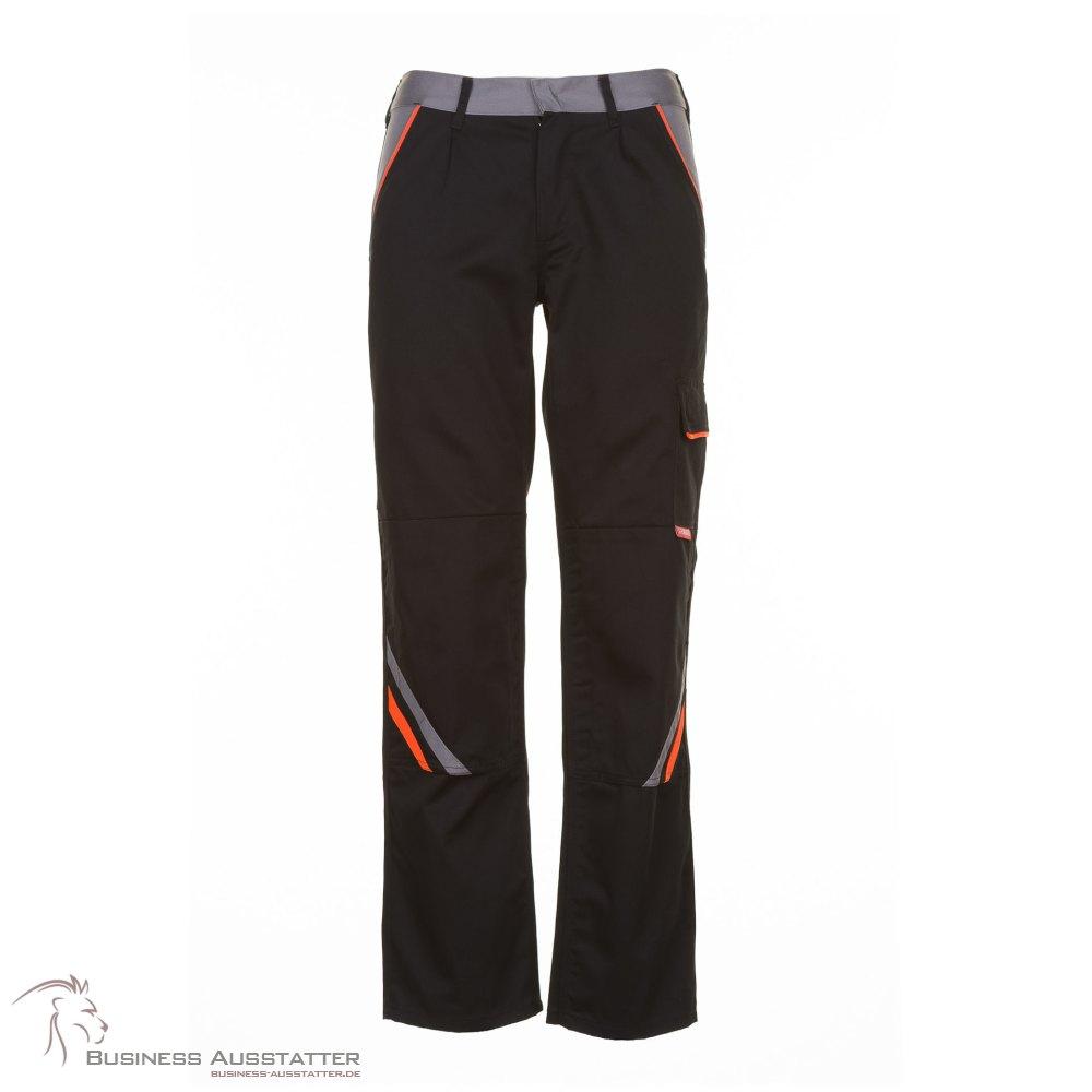 Planam Visline Herren Bundhose schwarz orange zink Modell 2421