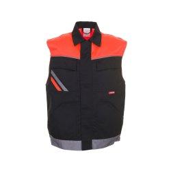 Planam Visline Herren Weste schwarz orange zink Modell 2461