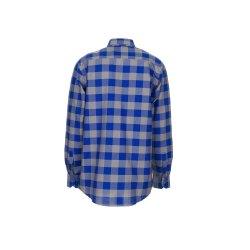 Planam Hemden Herren Squarehemd kornblau zink Modell 0490