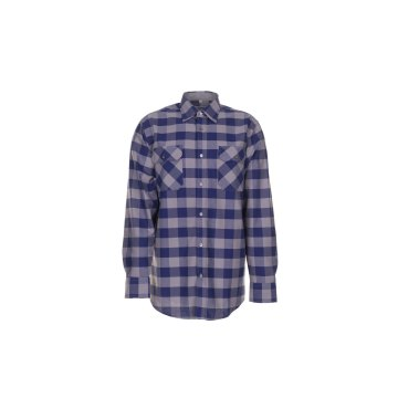 Planam Hemden Herren Squarehemd marine zink Modell 0491