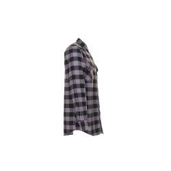 Planam Hemden Herren Squarehemd schwarz zink Modell 0492