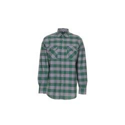Planam Hemden Herren Squarehemd grün zink Modell 0494